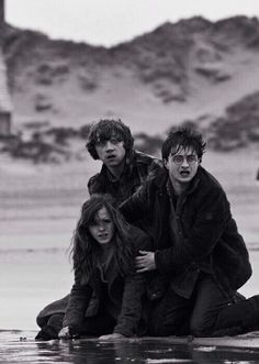 Harry Potter I love this pic. Describes of how Harry is so scared that Hermione is hurt and he is worried and protective and sad and hurt..