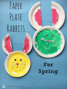 Paper Plate Rabbit Crafts are perfect for some art creation during spring! - http://abccreativelearning.com