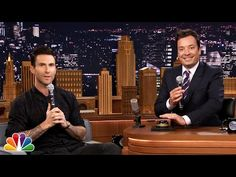 Adam Levine wheel of musical impressions. Frank Sinatra bit spot on
