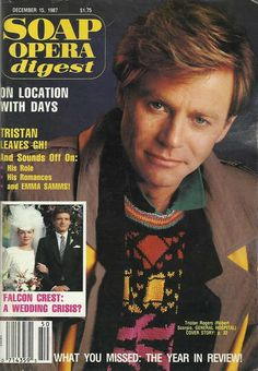 Tristan Rogers (Robert #GH) 12/15/87 http://classicsodcovers.tumblr.com/