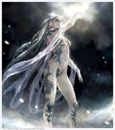 Final Fantasy Shiva シヴァ by 相場良祐 Shiva Final Fantasy, Final Fantasy Artwork, Final Fantasy Characters, Fantasy Series, Fantasy Girl, Chica Fantasy, Girl 3d, Ange Demon, Mo S