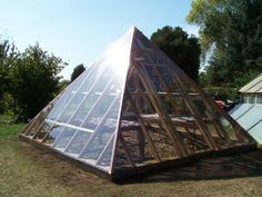 Pyramid greenhouse: my inspiration for Akoris Garden Tuteur. | abstract art