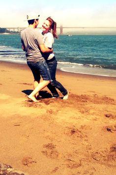 cute couple on the beach