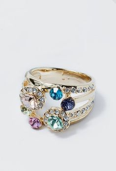 Gem Bouquet Ring Would be a great family ring!