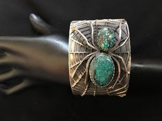 VINTAGE Navajo  Sterling Silver Spiderweb Turquoise Tufa Cast Spider Bracelet | Jewelry & Watches, Ethnic, Regional & Tribal, Native American | eBay!