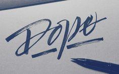 Handlettering: 'Dope'