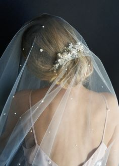 The Theodore pearl chapel wedding veil is a showstopper piece that brings a high fashion feel to a classically styled veil. Understated yet glamorous. Headpiece Wedding, Wedding Veils, Bridal Headpieces, Bridal Hair, Wedding Dresses, Wedding Shoes, Party Dresses, Drop Veil, Chapel Wedding