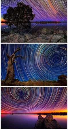 Extremely Long Exposure of Night Sky   photography by multicityworldtravel.com