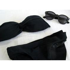 beach glamour - Bra and Bikinis Black Swimsuit, Black Bikini, Navy Bikini, Black Beachwear, Swimsuits, Bikinis, Swimwear, Bikini Mode, T Shirt And Shorts
