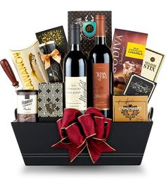 Wine Baskets: The Avenue Wine Gift Basket Best Gift Baskets, Wine Gift Baskets, Gourmet Gift Baskets, Sister Gifts, Fathers Day Gifts, Chocolates, Eid Hampers, Wine Pull, Valentines Day Baskets