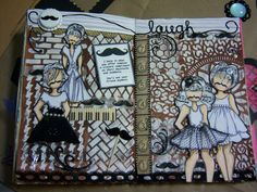 Altered Art Journal Theme: Humor with the Prima Dolls