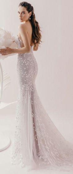 Strapless Sweetheart neckline heavy embellishment fit and flare wedding dress #wedding #weddingdress #weddingdresses #weddinggown #weddinggowns #bridedress