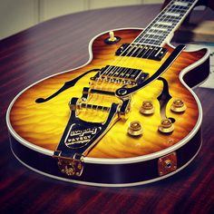 Les Paul Florentine Quilt in Iced Tea with Bigsby