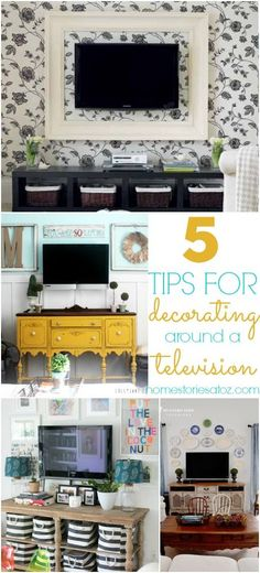 Tips for decorating around a television
