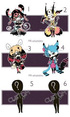 [CLOSED] ADOPT 19 - Set by Piffi-adoptables on deviantART