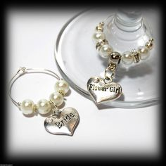 Beautiful Ivory White Wedding Wine Gl Charms For Top Table Or Favours Decor