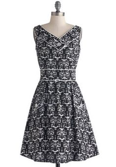 Dimmer Party Dress. A great hostess knows that lighting and ambiance are just as vital to a successful dinner as the food. #black #modcloth