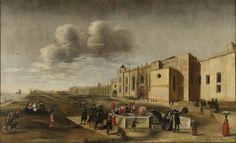 Vista do Mosteiro dos Jeronimos, Filipe Lobo séc XVII, Museu Nacional Arte Antiga.