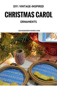 DIY: Vintage-Inspired Christmas Carol Ornaments #RockTheHolidays #ad