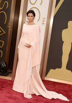 Camila Alves in Gabriela Cadena | All The Most Beautiful Blush Gowns From The Oscars Red Carpet