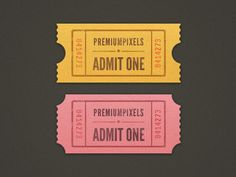 Illustrated Ticket Stubs in Graphics Design / Design Tickle