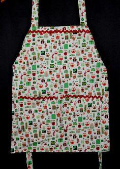 Holiday Hoot children's apron. #kids #handmade #cook #foodie