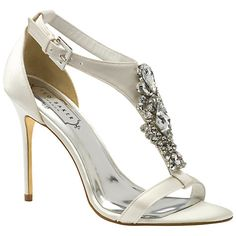 Buy Ted Baker Tie the Knot Naiss Jewelled High Heel Sandals, Cream Online at johnlewis.com