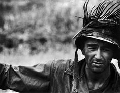 An American soldier during the Battle of Okinawa, photographed and Copyright © by W. Eugene Smith for Magnum Photos