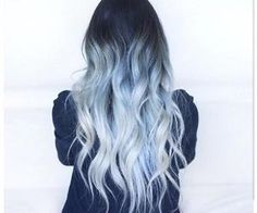 #bluehair #luminous #ombre