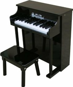 Schoenhut Black 25-Key Traditional by Schoenhut. $92.43. The first toy piano to be played at Carnegie Hall, Schoenhut's Traditional Spinet is a musical instrument of exceptional quality. This model is popular with adults as well as children, often the choice of professional musicians. Beautiful melodic tones are produced by little hammers striking steel music rods, the unique sound of Schoenhut toy pianos. Whether for a beginner who shows an interest in music or a chil...