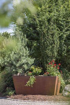 #Garten #Hochbeet #Pflanztrog #Pflanzgefäß #Edelrostoptik #Cortenstahl #Stahl #Metall Plants, Corten Steel, Metal, Plant, Planets