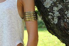 1950's Vintage Tribal African Brass Bracelet/ by FrenchVintageMe, €22.00