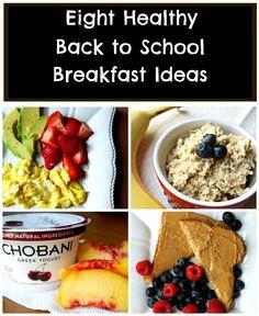 Eight Healthy Back to School Breakfast Ideas - Dietitian Approved!!