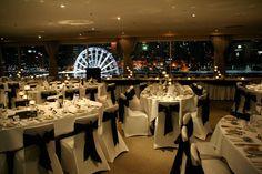 Black & white wedding theme | Rydges South Bank Level 12 Rooftop | Brisbane | QLD