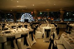 Black & white wedding theme | Rydges South Bank Level 12 Rooftop | Brisbane | QLD