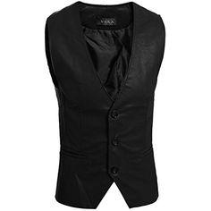 Partiss Herren PU Kunstleder Weste Einreihig Bikerweste Motorradweste leather vest(48,Black) Partiss http://www.amazon.de/dp/B00N4OXVUU/ref=cm_sw_r_pi_dp_Z4E.wb18TPCXT