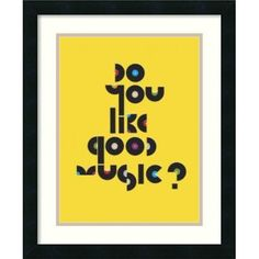 Amanti Art 'Do You Like Good Music?' by Anthony Peters Framed Graphic Art