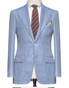 Light Blue Herringbone. Code 8213 - Wedding Suits|Bespoke Suits|Tailored Suits