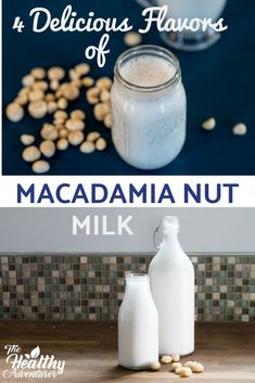 Macadamia nut milk is definitely the creamiest nut milk you can make. This thick, flavorful milk makes a great addition to smoothies, lattes, granola bowls, and cereal. Enjoy original, chocolate, berry, or vanilla.