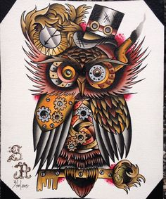 SteamPunk Owl  Copernicus McFeathersworth por stevil666 en Etsy