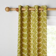 Buy Orla Kiely Linear Stem Pair Lined Eyelet Curtains Online at johnlewis.com