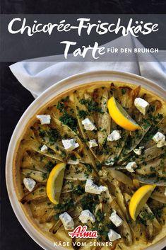 Wenig Aufwand und sieht super aus: Die Tarte mit Chicorée & Frischkäse. Super, Ethnic Recipes, Food, Pie, Brunch Ideas, Food Food, Essen, Meals, Yemek