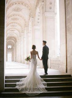 Foto Wedding, Paris Wedding, Boho Wedding Dress, Wedding Pics, Wedding Couples, Wedding Gowns, Paris Elopement, Wedding Ceremonies, Wedding Ideas