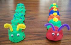 Tutorial : Egg Carton Caterpillar