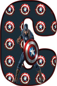 ‿✿..C..✿‿DE ALFABETO DECORATIVO Captain America Party, Captain America Birthday, Avengers, Caleb, Monogram Alphabet, Birthday Numbers, Cute Anime Couples, Marvel Heroes, Spiderman