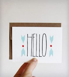 Chevron Hello Cards