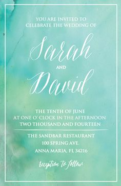 This pretty little thing along with the save the date, RSVP card, and thank you tag are available now! By: Daydream Prints ---> http://www.weddingchicks.com/freebies/invitation-suites/beach-wedding-invite/