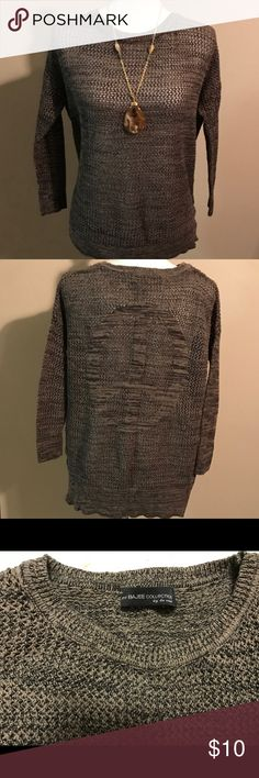 My Bajee Collection Cozy and comfortable sweater. Have a peace sign on the back. Size L 100% Cotton. my Bajee Collection Sweaters
