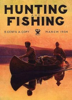 Hunting and Fishing 1934  Canoeing