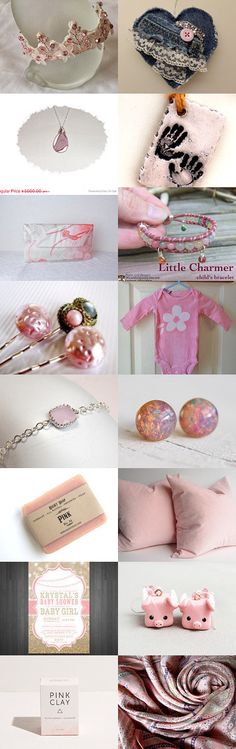 Shades of Pink by Rebecca Snowden on Etsy--Pinned with TreasuryPin.com